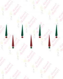 Comet Busters Red And Green Tilak Bindis With Dots