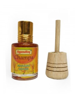 Sugandhim Fragrance Diffuser for Car and Room (Champa)