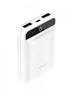 Portronics POR-944 | Mino Power 10000mAh | Dual Output Power Bank | White
