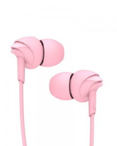 Boat BassHeads 100 Hawk Inspired Earphones with Mic | Taffy Pink