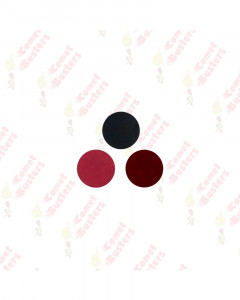 Comet Busters Basic Round Black, Maroon and Red Velvet Bindi (15mm)
