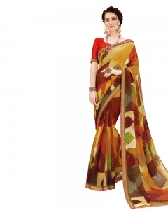 Comet Busters Georgette Saree with Printed Border