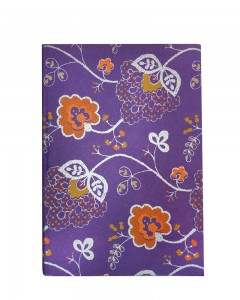 Comet Busters Purple Floral Print Notebook Ruled Diary