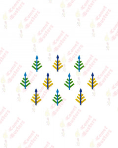 Comet Busters Leaf Design Green and Yellow Bindi