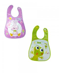 Comet Busters Plastic Waterproof Washable Stylish Printed Baby Bib Apron (Set of 2)