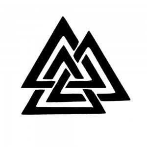 Comet Busters Triangle Viking Symbol Temporary Tattoo Sticker
