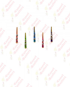 Comet Busters Beautiful Long Multicolor Bindis With Stones