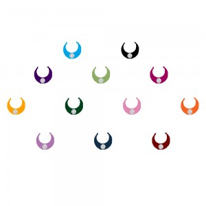 Comet Busters Multicolor Moon Bindis With Stone (7mm) (BIN1069)