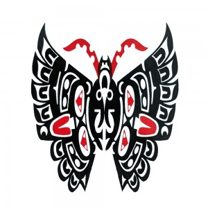Comet Busters Red and Black Temporary Water Tattoo (BJ130)