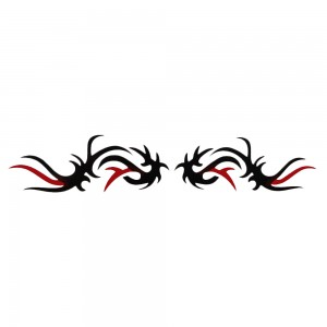 Comet Busters Black and Red Arm Band/Back Temporary Water Tattoo Sticker (BJ114)