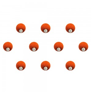 Comet Busters Orange Brown Shaded Ombre Bindis With Silver Stone (6mm) (BIN1272)