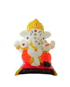 Comet Busters Small Polystone Ganesh Idols for Car Dashboard, Showpiece for Home & Office Decor