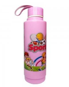 Comet Busters Pink Printed Insulated Water Bottle For Kids (600 ML)