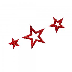 Comet Busters Red Stone Work Temporary Star Body Tattoo Body Jewels (BJ185)