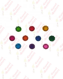 Comet Busters Multicolor Round Bindis With Stone Border (7 mm)