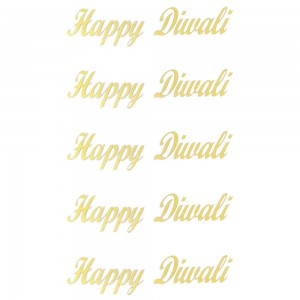 Comet Busters Golden Happy Diwali Gift Stickers for Envelopes, Gift Bags, Diwali Decorations (STK013)