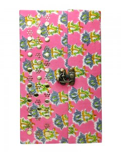 Comet Busters Handicrafts Pink Handmade Diary With Latch Closure