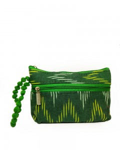 Comet Busters Printed Multipurpose Soft Cotton Green Pouch Bag