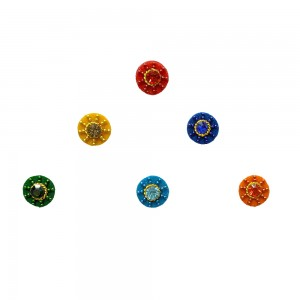 Comet Busters Fancy Round Bindis With Colorful Stone and Beads (8mm) (BIN1118)