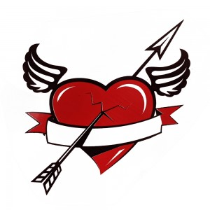 Comet Busters Black and Red Temporary Water Tattoo (BJ142)