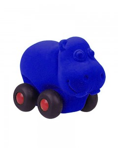 Rubbabu Aniwheel Hippo Large (Blue)
