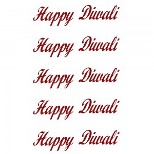Comet Busters Red Happy Diwali Gift Stickers for Envelopes, Gift Bags, Diwali Decorations (STK012)