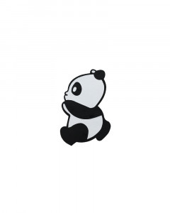 Comet Busters Black Cute Panda Temporary Tattoo
