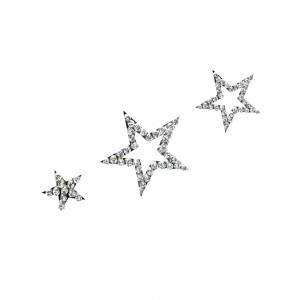 Comet Busters Silver Stone Work Temporary Star Body Tattoo Body Jewels (BJ182)