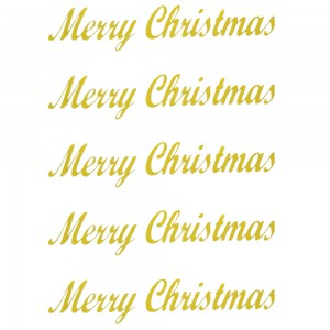Comet Busters Merry Christmas Golden Gift Stickers for Envelopes, Gift Bags, Christmas Decorations (STK021)