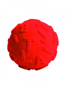 Rubbabu - Red Alphalearn Ball Uppercase (Large)