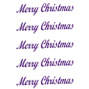 Comet Busters Merry Christmas Purple Gift Stickers for Envelopes, Gift Bags, Christmas Decorations (STK018)