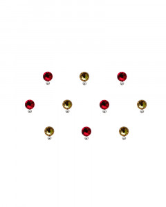 Comet Busters Red and Golden Swarovski Crystal Bindi