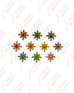 Comet Busters Beautiful Colorful Square Bindis