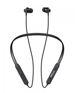 Portronics Harmonics 216 HD Stereo Wireless Bluetooth 5.0 Sports Headset with High Bass (Black)