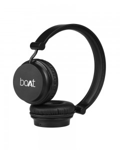 Boat Super Bass Rockerz 410 | Bluetooth On-Ear Headphones with Mic | Carbon Black