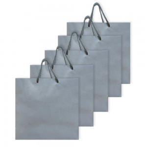 Comet Busters Grey Eco Friendly Multipurpose Paper Bags (Size - 9 x 9 x 4 inches) (Pack of 5)