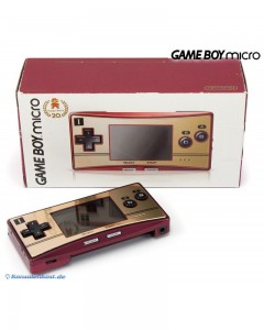 Game Boy Micro Console | Red Gold | Happy Mario 20th Anniversary Edition