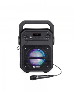 Zoook Rocker Thunder 20 watts Bluetooth Speaker with Karaoke Mic /TF/FM/LED/USB