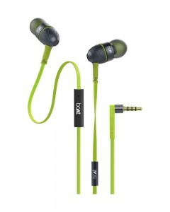 Boat Bass Heads 220 | In-Ear Headphones with Mic | Neon Lime