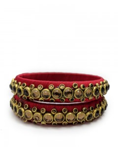 Comet Busters Traditional Red Bangles for Women