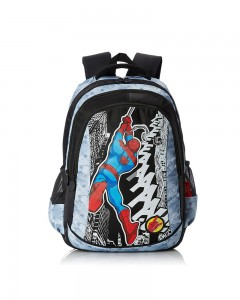 Spiderman Nylon Black School Bag (Age Group :8 yrs +)