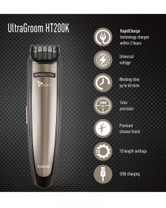 Syska HT200K Pro Styling Trimmer Kit (Gun Metal)