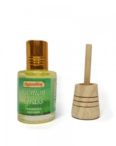 Sugandhim Fragrance Diffuser for Car and Room (Lemon Grass)