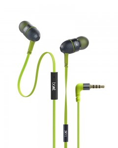 Boat Bass Heads 225 | In-Ear Headphones with Mic | Neon Lime