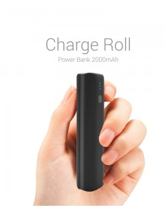 Portronics POR-640 | Charge Roll | 2000mAh Power Bank | Black