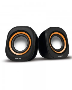 Philips IN-SPA25G/94 Notebook USB Speakers | Orange