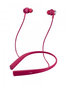 Boat Rockerz 275 Sports | Bluetooth Wireless Earphone | with Stereo Sound and Hands Free Mic | Intense Pink