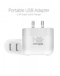 Portronics Portable USB Adapter | 2.4A