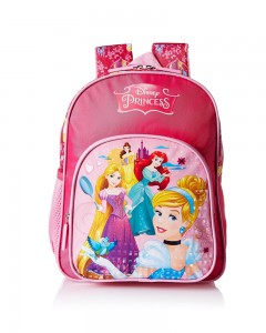 Disney Princess Pink School Bag for Children Of Age Group 18 to 36 months| Size 12 inch