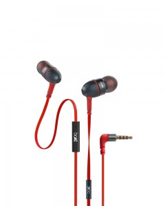 Boat Bass Heads 225 | In-Ear Headphones with Mic | Red